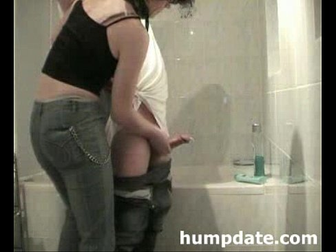 Horny Guy Gets Handjob With Happy End In Bathroom