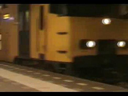 Homemade Movie At A Dutch Trainstation