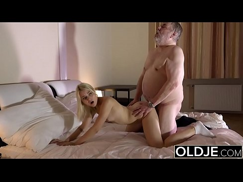 Skinny Teen Sucks The Cock Of An Old Man She Gets Fucked And Swallows Cum