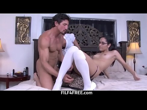 Step Daughter Needs To Learn How To Fuck From Step Dad And Mom