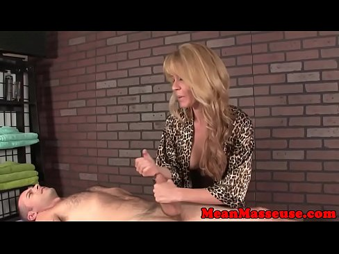 Mature Masseuse Babe Ruins Mans Orgasm
